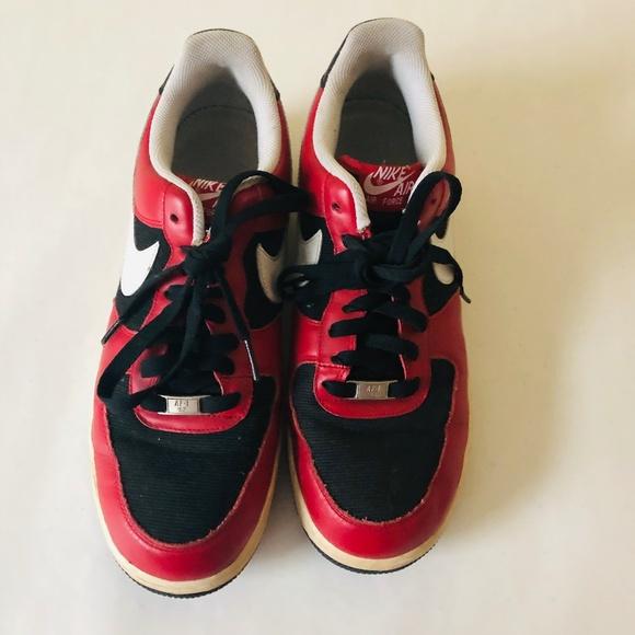Nike Shoes Air Force 1 Men Red White Black Sneakers Poshmark